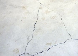 cracks in a slab floor consistent with slab heave in Pickering.