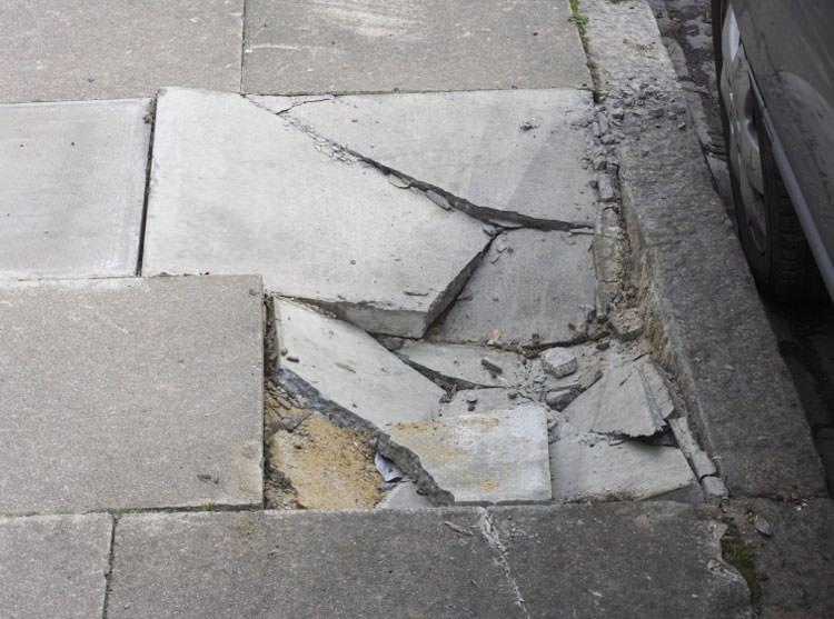 Settling Sinking Outdoor Concrete Repair In Ontario