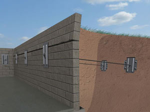 A graphic illustration of a foundation wall system installed in Kawartha Lakes