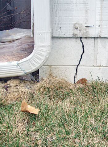 foundation wall cracks due to street creep in Georgina